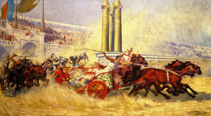 William Trego. La corsa delle bighe da Ben Hur