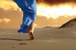 Cammino blu. Deserto