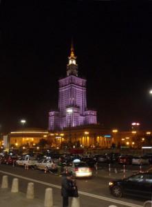 Varsavia. Il Palazzo della Cultura. Notte