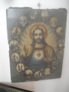 7. Immagine Cuore di Gesù alla parete