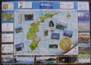 Cartina di Ponza per la Pro-Loco