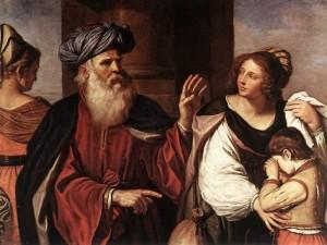 Guercino Abramo caccia Hagar e Ismaele.1657