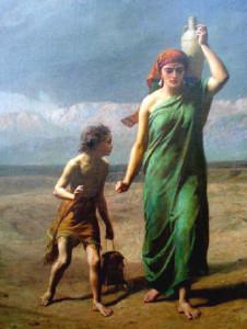 Hagar and Ishmael. Frederick Goodall, 1866