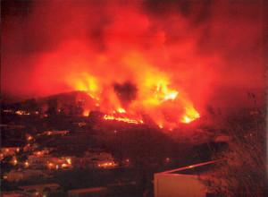 Incendio Ponza 26 agosto 2007