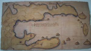 Isole di Pontio. Mappa 16 sec.