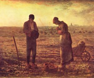 Jean François Millet. L'angelus. 1859