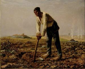 Jean François Millet. L'uomo con la zappa.1860