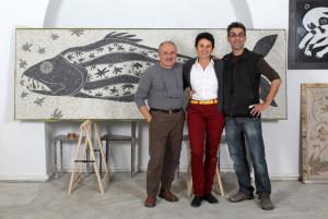 Oreste Baldini con Françoise Mouton e Renzo Russo