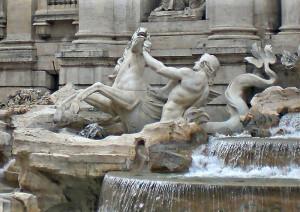 Roma. Fontana di Trevi. Nicola Salvi . G.B. Maini. 1735