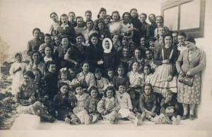 Una foto ai tempi dell'asilo delle suore
