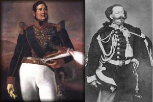 Ferdinando II e Vittorio Emanuele II