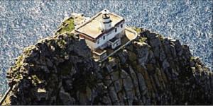 Il Faro della Guardia dall'alto