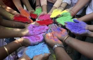India. Holi. Mani. La festa dei colori