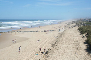 Lacanau France. Spiaggia sul'Atlantico