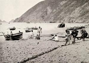 Pescatori ponzesi a La Galite