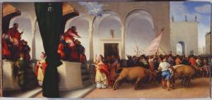 Santa Lucia tirata dai buoi