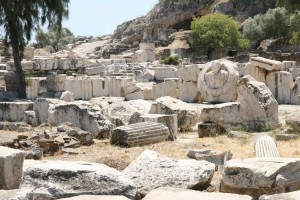 resti del santuario di Eleusi