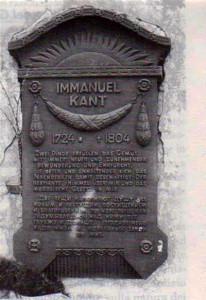 Epitaffio sulla  tomba di Immanuel Kant