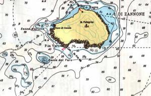Mappa nautica Zannone