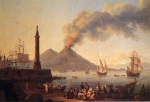 Porto e Golfo di Napoli col Vesuvio 1771
