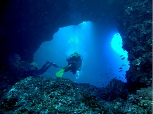 grotta sottomarina a Giannutri