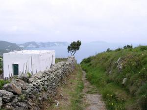 sentiero verso il faro della Guardia