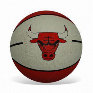 Basketball-with-Bull-Pattern-on-Surface