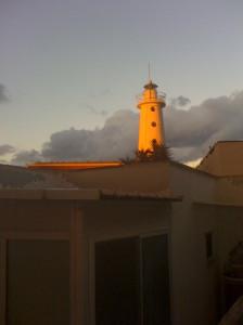 Il Faro della Madonna al tramonto