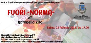 Invito mostra Antonella Zito