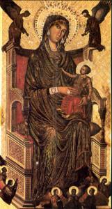La Madonna di Montevergine. Figura intera