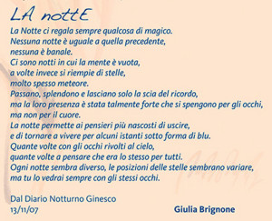 La Notte di Giulia Brignone