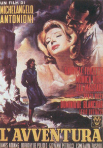 L'avventura. Antonioni. Locandina