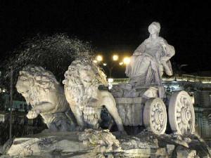Madrid. Fontana di Cibele. Fuente de Cibeles 1782