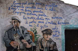 Murales-in-orgosolo. Neruda