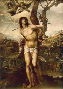 San Sebastiano di Giovanni Antonio de' Bazzi detto 'Il Sodoma'. 1525