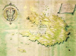 Isola di Pontio. Mappa di Anonimo. Fine XVII inizio XVIII sec