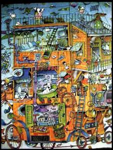 Baraccopoli verticale by Mordillo