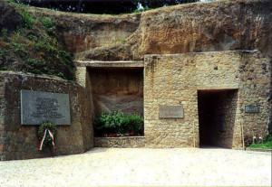 L'ingresso attuale alle Fosse Ardeatine
