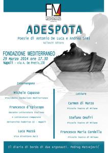 Locandina Adespota. Napoli 2014
