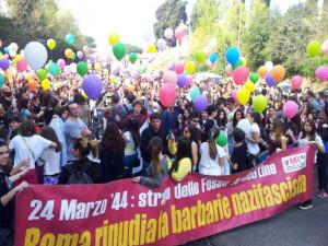 Palloncini per le Fosse Ardeatine. 2014