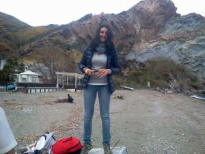 Raccolta del materiale sulla spiaggia di Frontone.4