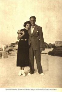 Rita Parisi con Mario Magri