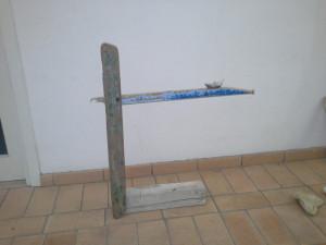 Una delle opere che Marta Bilbao sta realizzando