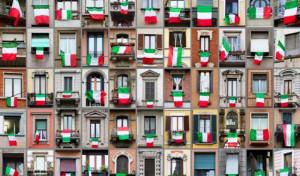 Bandiere italiane a Milano