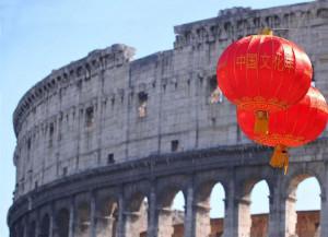 Colosseo. Lanterne cinesi