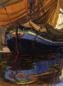 Egon Schiele. Barca di pescatori 1908