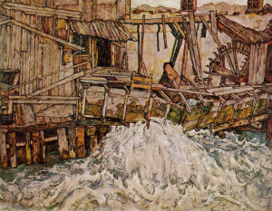 Egon Schiele. Il mulino. 1916