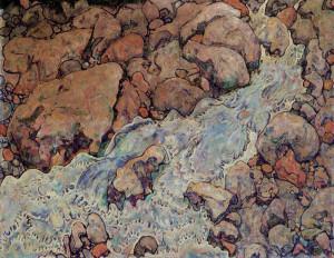 Egon Schiele. Torrente di Montagna 1918