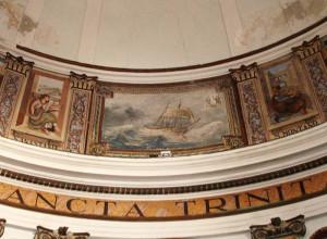 Il dipinto di Raffaele Sandolo nella cupola