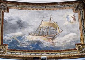 Il dipinto di Raffaele Sandolo. Particolare